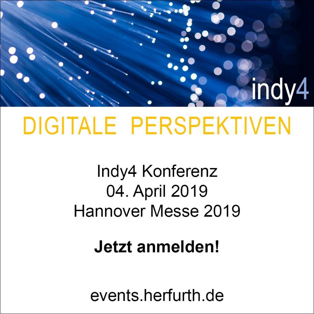 Indy4 Konferenz auf der Hannover Messe
